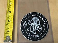 Hmnim Medium Promo Sticker Decal White On Black Hi My Name Is Mark Blink 182 New