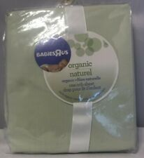 Babies R Us Green Organic 100% Cotton 200 Thread Count Woven Baby Crib Sheet