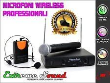 SET Radio microfoni PROFESSIONALI ARCHETTO+ GELATO Senza Fili Wireless LWM-328GA