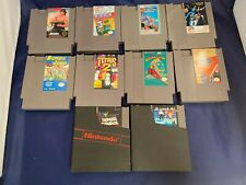 Nintendo NES Lot of 10 Games Tetris Rocketeer Bill Ted Dig Dug Rambo MTV Remote!