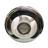 """Chrome White Grill & Light 3w LED Light Bulb Replacement For Any 4"""" 100mm Grille"""
