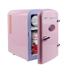Frigidaire Retro Mini Compact Beverage Refrigerator Pink, 6 Can EFMIS129-PINK