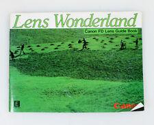 LENS WONDERLAND CANON FD GUIDE BOOK