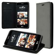 LG K10 (2017) Coque de Protection Carte Portefeuille Housse Etui Cover Case Noir
