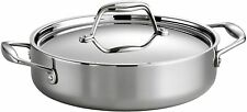 Tramontina Gourmet 3 Qt Tri-Ply Clad Stainless Steel Covered Braiser NEW