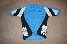 Vintage Nike Gray Tag Blue Medium M Bike Cycling Shirt