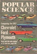 Popular Science November 1956 '57 Chevrolet, Ford, Plymouth VG 061016DBE