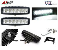 DRL 16cm Universal Car Van Bus Front LED Lights 12V Spot Fog Halogen Lamps NEW