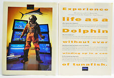 Ecco the Dolphin for Sega Genesis 1993 vintage video game two-page Print Ad