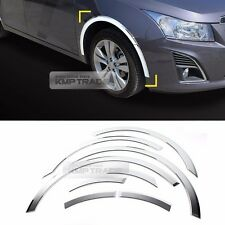 Chrome Wheel Fender Lip Cover Guard Molding Trim 8Pcs For CHEVY 2008-2016 Cruze