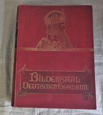 antik Buch  Bildersaal deutscher Geschichte von Adolf Bär um 1900 Prachtausgabe