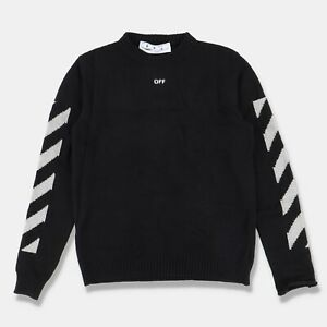 Off-White Black Distressed Arrows Sweater   Size S Regular fit SS21 RRP $855