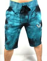 True Religion Men's Tie-Dye Basic Logo Cut Off Sweat Shorts - 101920