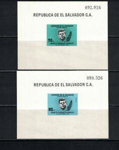 El Salvador 1964:: #750, C214 JF Kennedy SS NH:Lot#5/8