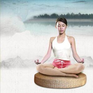 Natural Straw Round Tatami Zen Mat Cushion Futon Floor Yoga Meditation Tea Seat