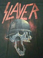 Slayer 2007 Tour Dates War Helmet Skull Black Hanes 2Xl Short Sleeve T-Shirt