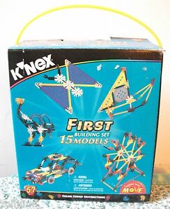 Vintage K'NEX FIRST BUILDING SET At Home STEM Projects Learn+Fun 253pc SET NIB