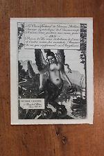 1905 Octave Uzanne Carte de voeux artistique Rare eau-forte par Félix Vallotton