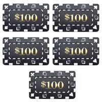 15 Ct Square Rectangular 32 Gram $100 Black Poker Plaques Square Chips
