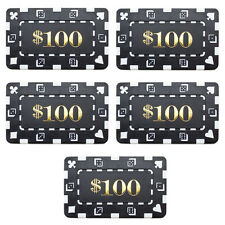 5 Ct Square Rectangular 32 Gram $100 Black Poker Plaques Square Chips