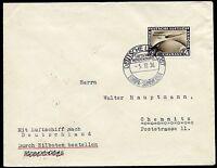GERMANY ZEPPELIN COVER SO AMERICA 12/5/36 FRANKED 4mk CHICAGO FLIGHT TO CHEMNITZ