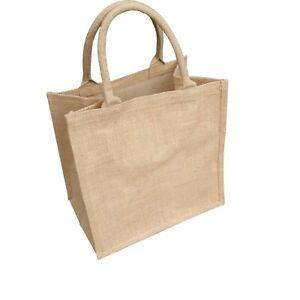 1 x Jute Hessian Medium Deluxe (M3) Plain Shopping Bag