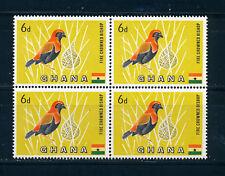 GHANA 1959 DEFINITIVES SG220 6d (BIRD) BLOCK OF 4 MNH
