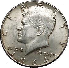 1964 President John F. Kennedy Silver Half Dollar United States USA Coin i44609
