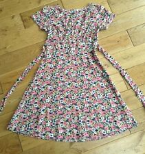 Gorgeous Fit & Flare Pretty Floral 1940's Vintage Style Tea Dress Size 8