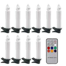 10pc LED Battery Operated Flickering Taper Candles Tea Light Remote Control ABS