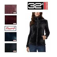 32 Degrees Heat Women's Plush Faux Fur Full Zip Mock Neck Jacket SZ/CLR | G43