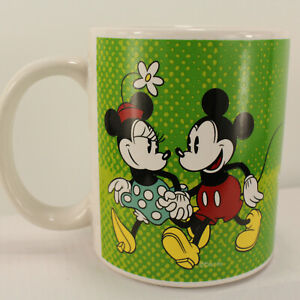 "Disney Mickey and Minnie Mouse Green You & Me Love Coffee Mug Couples ""You&Me"""