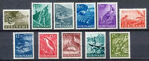 SURINAME 1953-1954 - NATIVE OCCUPATIONS / ANIMALS AND SIDES - MNH SET      Hk40c