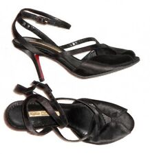BUFFALO LONDON sandales  satin noir P 41 neuves