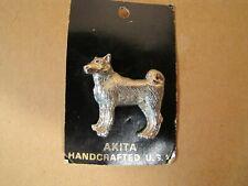 Akita Dog Pin Silver Tone Handcrafted U.S.A. Jewelry