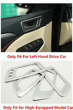 Matt Inner Interior Door Handle Bowl Cover Trim 4pcs for Toyota Highlander 2015
