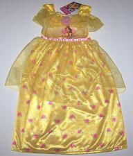 Nwt New Disney Princess Belle Beauty Beast Nightgown Pajamas Costume Flower Girl