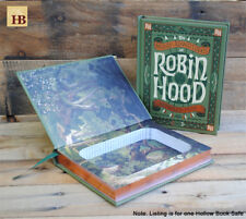 Hollow Book Safe - Robin Hood - Green Leather Bound Book Safe