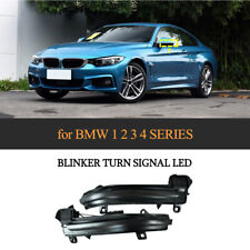 Sequential Smoked Side Mirror Turn Signal Light For BMW F20 F22 F30 F32 F34 F36
