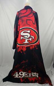San Francisco 49ers Unisex Fleece Blanket Coat One Size