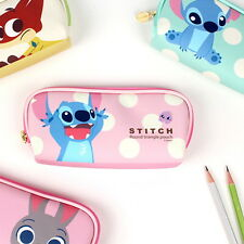 Disney Character Stitch Pencil Case Pen Pouch Bag School Ohana Zootopia Judy new