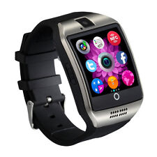 Smart Bluetooth Fitness Watch Q18 NFC Phone for Android Samsung SIM Card Silver