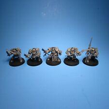 GW Warhammer 40k Grey Knight Terminators x5 Assembled i34b