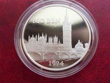 1994 France Large Silver Proof  100 Fr/15 Ecu Big Ben