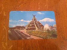 La Raza En La Ciudad De Mexico Precolumbian Mexican Monument Vintage Postcard