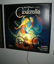 Cinderella Light Box Poster 3' X 3' SUPER RARE Disney 1988 vintage