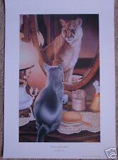"**Daniel Pierce ""VISIONS OF GRANDER""-Cat-Wildlife-Mirror Magic-Reflection-Art**"