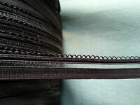 2M Fancy Elastic: SEWING, CRAFTS, LINGERIE DRESSES Black and Brown 13mm wide
