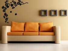 Wall Stickers Vinyl Decal Branch And Flowers Floral Decal z582