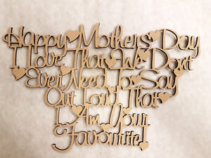 """WALL ART - """"HAPPY MOTHERS DAY"""" - 300mm x 194mm x 3mm"""